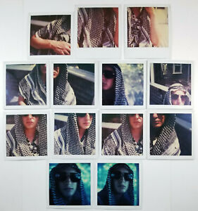 Vintage Polaroid Photographs Abstract Man Up Close And Personal