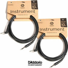 2x Planet Waves Classic 10ft Instrument Guitar Cable Lead Right Angle