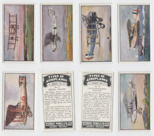 Murray, Sons & Co - Types Of Aeroplanes (1929) - Type Cards/Odds