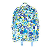 Vera Bradley Laptop Backpack Blueberry Blooms Large Campus Quilted Floral