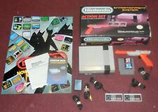Nintendo NES - Complete ACTION Set Boxed - SYSTEM Bundle Console Lot + New Pin