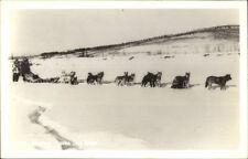 Famous Alaska Dog Sled Husky Team Real Photo Postcard