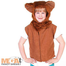 Kids Deluxe Tiger Gilet Tabard Costume Unisex Animal Fancy Dress Party Outfit