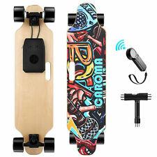 90cm Elektro Skateboard Elektrisch Longboard E-Scooter Board mit Fernbedienung