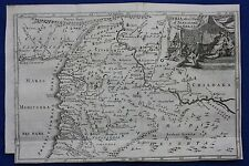 Original antique map SYRIA AFTER THE DEATH OF ALEXANDER THE GREAT, Blundell,1747