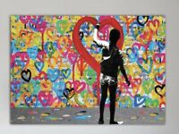 SAGE Original ONLY LOVE On Canvas edition of 3 signed obey kaws banksy supreme