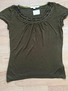BODEN dark khaki Grecian Top  size 12R NEW  WA421.