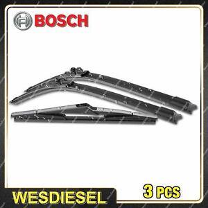 Bosch Aerotwin Plus Front + Rear Wiper Blade Set fits Ford Fiesta WS WT WZ JD JH