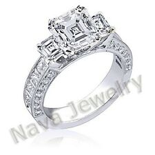2.84 Ct. Asscher Cut Diamond Engagement Ring