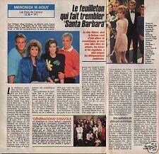 Coupure de presse Clipping 1989 Les Feux de l'Amour  (1 page1/2)