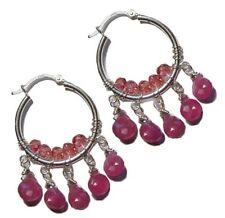 Leverback Pear Sapphire Fine Earrings