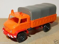 WIKING HO 1/87 MB MERCEDES UNIMOG S 404 BACHE TRAVAUX PUBLICS DDE NO BOX