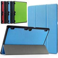 Fino Libro Funda de Piel para Lenovo Tab 3 10.1 Inch Smart Soporte Magnético