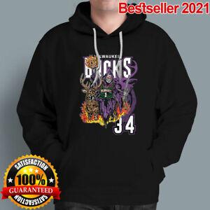 Milwaukee Bucks hoodie Unisex Hooded Sweatshirt 2021 Sport Super Bowl Basketball
