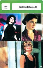 Isabella Rossellini  ITALIE-USA  ACTRESS ACTRICE FICHE CINEMA