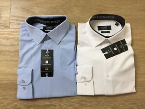lot of 2 mens jones new york slim fit button dress shirts 15 15.5 34 35 medium