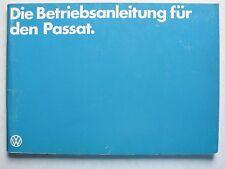 Betriebsanleitung Volkswagen Passat Vergaser/Einspritz/Diesel Motoren, 1.1979