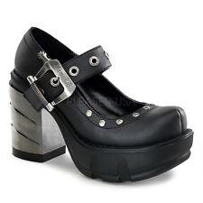 Demonia Sinister 59 Zapatos señoras Gótico Punk Lolita Plataforma Taco Abs Cromado