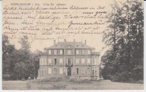 Ansichtskarte Frankreich   Elsaß  Dorlisheim  Villa St. Johann   1912