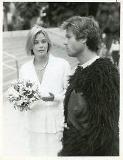 SUSAN DEY HARRY HAMLIN IN GORILLA SUIT L.A. LAW ORIGINAL 1987 NBC TV PHOTO