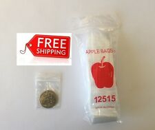 """1000 Apple Clear 1.25""""x1.5"""" baggies 12515mini ziplock reclosable bags 32mmx38mm"""