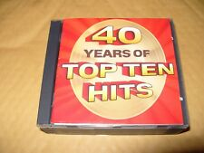 40 Years Of Top Ten Hits Readers Digest 6 cd Box Set 1992 Excellent + condition