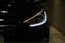 Projection LED Day Light Head Lamp Lights For 11~ 2015+ Hyundai Accent Solaris