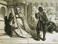 Thomas Nast Shakespeare QUEEN TWEED and TAMMANY HALL 1870 Antique Print Matted