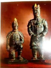 Chinese Terracotta Warrior Candles Army of Qin Shi Huang, Xian Figurine black