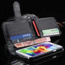 Custodia cover NERA portafoglio banconote Samsung Galaxy S5 G900F tasche BOOKLET