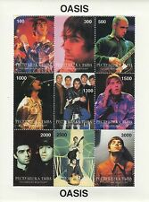 OASIS NOEL GALLAGHER LIAM GALLAGHER ROCK N ROLL MINT UNMOUNTED STAMP SHEETLET