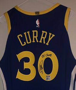 Stephen Curry Signed Warriors NBA Authentic Auto Nike Vaporknit Jersey USASM BAS