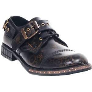 Boots And Braces 3-Loch Steampunk Gear Brass Rub-Off Messing Schuhe Leder Neu