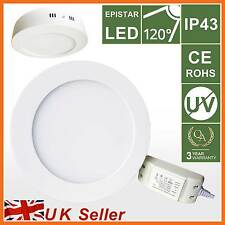 LED Panel Ceiling Down Flood Light,11W Day WHITE Round Mounted Lamp Bulb Kitchen