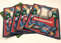 4 1988 Official Playoff Series Scorecard from Budweiser Dodgers Mets A's Red Sox
