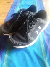 Boys Under Armour Tennis Shoes Size 6y Gray