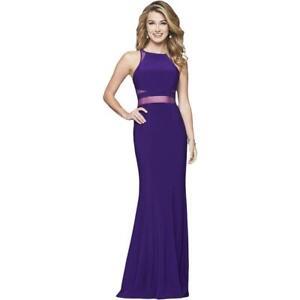 Faviana Womens Purple Prom Full-Length Formal Evening Dress Gown 00 BHFO 2474