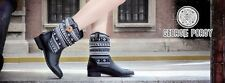 Tout Neuf GEORGIE Porgy Confortable Femmes Noir Népal chaussures bottes taille 5
