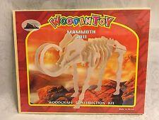 Woodcraft Construction Kit Mammoth Assembly Dinosaur J011 Prehistoric Life New