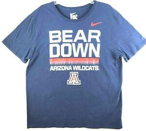 Nike Arizona Wildcats Dri-Fit Mens Extra Large Athletic Tee T-Shirt Blue XL