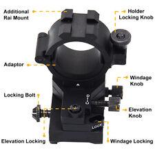 """Regolazione della DERIVAZIONE Elevazione Regolabile 1""""/30 mm montaggio MIRINO PER FUCILE rotaie Picatinny, Weaver"""