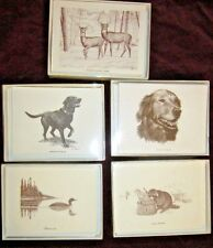 Christmas Boxed Note Cards w/Dogs & Wildlife w/10 Notes Cards & 10 Envelopes/Box