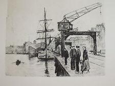 Original-Radierungen (1900-1949) aus Deutschland mit Marine- & Seefahrt-Motiv