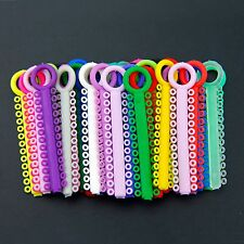 1040Pcs 1Pack Dental Ligature ties Orthodontics Elastic Rubber Bands Multi Color