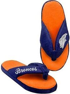 Denver Broncos NFL Licensed Women's Glitter Flip Flop Thong Slipper Adult Sizes
