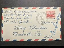 Apo 163 Paris, France 1955 Army Air Force Cover Sac 7961 Au (Ja Section) Apo 230
