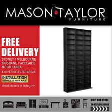 Mason Taylor Adjustable CD DVD Storage Shelf Rack Stand Book Unit Cupboard Black