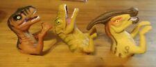 Vintage Jurassic Park Lot of 3 Finger Puppets Dinosaur Toys 1996 T Rex