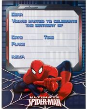 SPIDERMAN INVITATIONS PACK OF 8 BIRTHDAY PARTY INVITES