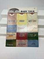 MORE BABY TALK Hickory Hollow Country Cross Stitch Pattern Leaflet Bib Patterns